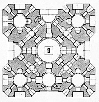 First floor plan of Humayun's tomb. Source: Hidden Architecture