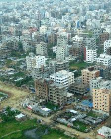 Dhaka city aerial view