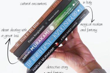 book stack murakami ishiguro